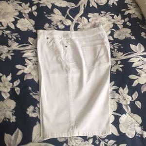 Chico's white walking shorts